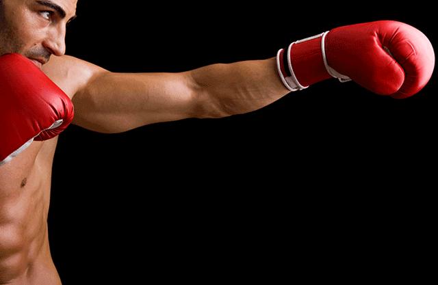 ボクシングをしているボクサー