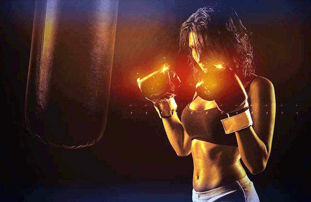 女性のボクサー