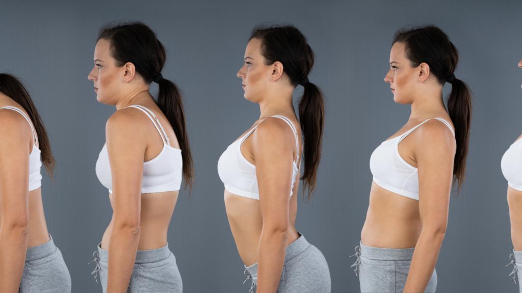姿勢改善効果。姿勢によって変わる女性の印象